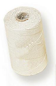 Coton tressé diam.1,5mm long.295m pelote de 500g blanc - Gedimat.fr