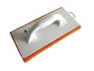 Frottoir polystyrène à revêtement spécial monobloc ép.18mm larg.14,8cm long.29,3cm spongieux orange - Gedimat.fr