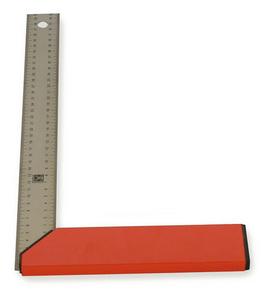 Equerre de menuisier gradu�e en acier tremp� talon aluminium long.40cm - GEDIMAT - Mat�riaux de construction - Bricolage - D�coration