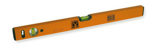 Niveau profil rectangulaire aluminium époxy 100cm orange - Gedimat.fr