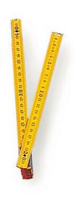 Double-mètre ABS pliant - 2m - Gedimat.fr
