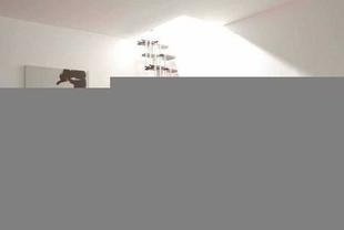Escalier droit KARINA en acier plastifié blanc haut.2,28/2,82m marches en bois (hêtre) foncé finition verni - Gedimat.fr