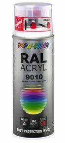 Bombe de peinture RAL 9010 Blanc pur - Brillant Duplicolor - Gedimat.fr