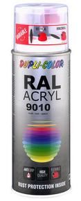 Bombe de peinture RAL 9010 Blanc pur - Mat Duplicolor - Gedimat.fr