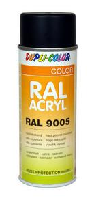 Bombe de peinture RAL 9005 Noir foncé - Satiné Duplicolor - Gedimat.fr