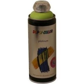 Bombe aérosol peinture PLATINIUM aspect satiné 400ml coloris vert printemps - Gedimat.fr