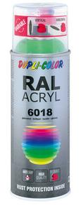 Bombe de peinture RAL 6018 Vert jaune - Brillant Duplicolor - Gedimat.fr