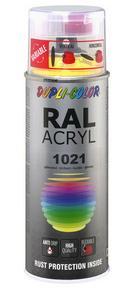 Bombe de peinture RAL 1021 Jaune colza - Brillant Duplicolor - Gedimat.fr
