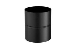 Adaptateur en acier émaillé femelle/femelle diam.130mm noir mat - Gedimat.fr