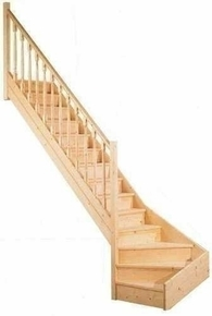 escalier 1 4 tournant dimension. Black Bedroom Furniture Sets. Home Design Ideas