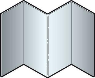Angle intérieur en aluminium pour bardage en clins CEDRAL- OPERAL long.3,00m argent - Gedimat.fr
