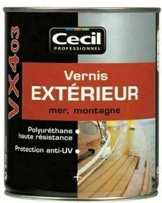 Vernis ext rieur mer et montagne vx403 pot de 1l incolore for Vernis pour metal exterieur