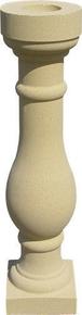 Balustre pierre reconstituée PORNIC 14x14cm haut.59cm coloris pierre - Gedimat.fr