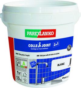 Colle et joint en pâte pour carrelage mural intérieur D2 COLLE&JOINT seau de 1,5kg - Gedimat.fr