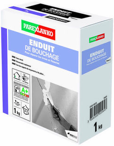 Enduit pour les réparations des trous et fissures sac de 1kg - Gedimat.fr