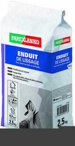 Enduit pour lisser les murs et plafonds sac de 2,5kg - Gedimat.fr