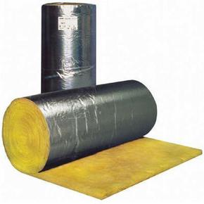 Laine de verre en rouleau MRA 40 revêtue Aluminium ép.160mm larg.1,20m long.5,00m - Gedimat.fr