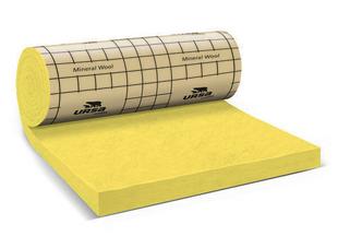 Laine de verre en rouleau PRK 35 revêtue kraft Ep.200MM larg.1,20m long.3,20m - Gedimat.fr