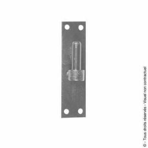 Gond plat bout carré verticale en acier diam.14mm finition bichromatée - Gedimat.fr