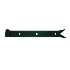 Penture droite queue de carpe en acier diam.14mm long.40cm cataphorèse noir - Gedimat.fr
