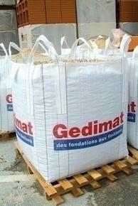 Big Bag de chantier Gedimat non réutilisable charge utile 1500kg volume 1m3 - Gedimat.fr