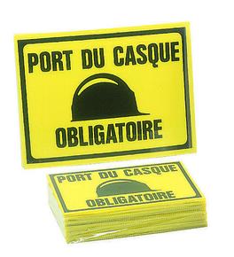 Panneau port du casque obligatoire 300x200mm - Gedimat.fr