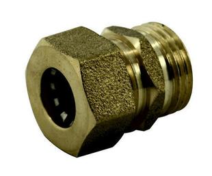 Raccord union laiton brut à joint mixte gripp à visser mâle diam.20x27mm pour tube cuivre diam.16mm en vrac 1 pièce - Gedimat.fr