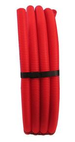 Tuyau PER polyéthylène réticulé prégainé coloris rouge diam.12mm en couronne de 25m - Gedimat.fr