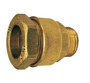 Raccord laiton droit mâle à visser diam.26x34mm pour branchement tube polyéthylène diam.32mm avec lien 1 pièce - Gedimat.fr