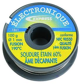soudure tain qualit 1 re fusion 40 tain fil bobine de 100g. Black Bedroom Furniture Sets. Home Design Ideas