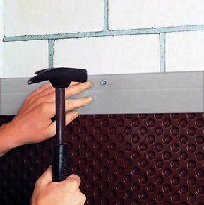 solin de finition en aluminium pour nappes delta. Black Bedroom Furniture Sets. Home Design Ideas