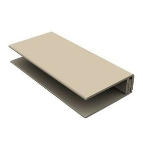 Profil de bordure PVC clipsable pour bardage cellulaire original 18 x 47 mm Long.3 m Gris Clair - Gedimat.fr