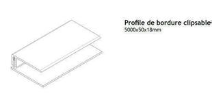 profil pvc d part clipsable p 8 10mm long 2 60m blanc. Black Bedroom Furniture Sets. Home Design Ideas