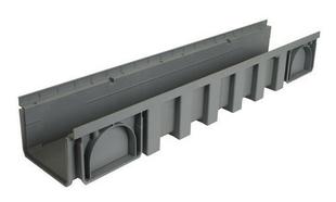 Caniveau hydraulique modulaire polypropylène NICOLL CAN188 gamme connecto avec feuillure et emboîture mâle-femelle larg.200mm long.1m - Gedimat.fr