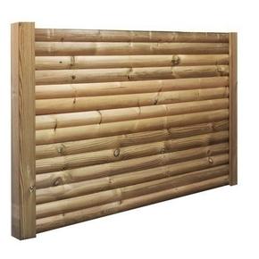 Lame en bois (Pin du Nord) pour clôture H bombée Classe 4 ép.28mm larg.14,5cm long.2,00m - Gedimat.fr