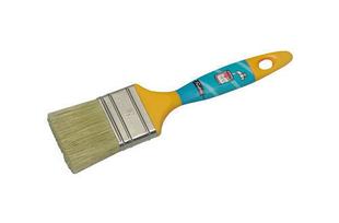 Brosse plate pour peinture acrylique fibres mélangées manche polypropylène larg.50mm n°50 - Gedimat.fr