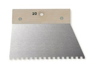 Spatule à colle dents carrées 10x10x10mm - 20cm - Gedimat.fr