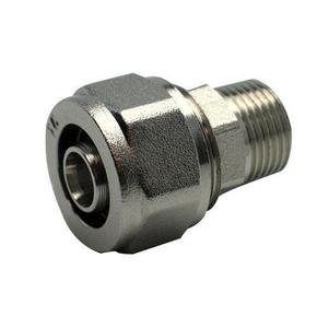Raccord droit mâle diam.15X21mm pour tuyau multicouche synthétique EASYPEX diam.16mm sous coque de 1 pièce - Gedimat.fr