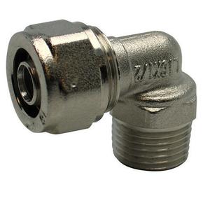 Raccord coudé mâle diam.15X21mm pour tuyau multicouche synthétique EASYPEX diam.16mm sous coque de 1 pièce - Gedimat.fr
