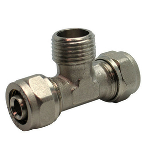 Raccord en té mâle diam.15x21mm pour tuyau multicouche synthétique EASYPEX diam.16mm sous coque de 1 pièce - Gedimat.fr