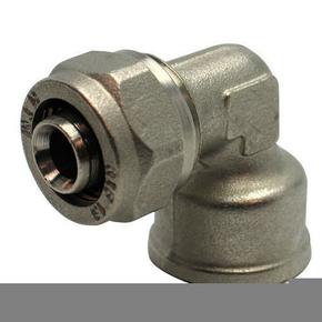 Raccord coudé femelle diam.15X21mm pour tuyau multicouche synthétique EASYPEX diam.16mm sous coque de 1 pièce - Gedimat.fr