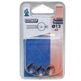 Bague de serrage laiton brut pour tuyau PER polyéthylène réticulé diam.12mm sous coque de 3 pièces - Gedimat.fr