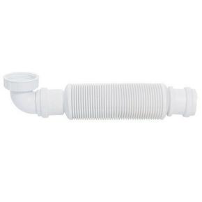 Siphon d'évier SENZO souple à membrane entrée 33x42 sortie diam.40mm - Gedimat.fr