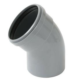 Coude PVC à joint NICOLL mâle-femelle diam.125mm angle 45° - Gedimat.fr