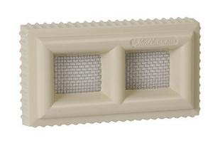Claustra PVC NICOLL pour maçonnerie avec moustiquaire acier inoxydable haut.60mm larg.110mm coloris sable - Gedimat.fr