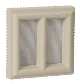 Claustra PVC NICOLL pour maçonnerie avec moustiquaire acier inoxydable haut.120mm larg.120mm coloris sable - Gedimat.fr