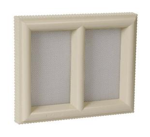 Claustra PVC NICOLL pour maçonnerie avec moustiquaire acier inoxydable haut.180mm larg.220mm coloris sable - Gedimat.fr