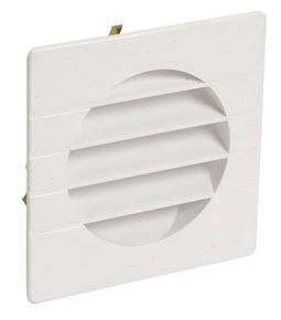 Grille d'aération spéciale façade NICOLL carrée en applique avec moustiquaire pour tube diam.100mm coloris blanc - Gedimat.fr