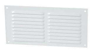 Grille aluminium NICOLL type persienne rectangulaire horizontale avec moustiquaire haut.100mm larg.200mm coloris laqué blanc - Gedimat.fr