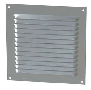 Grille aluminium NICOLL type persienne avec moustiquaire carrée 150x150mm coloris gris - Gedimat.fr